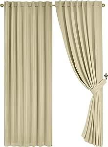 chezmoi 系列纯色后背 TAB 绝热遮光窗帘面板
