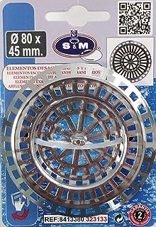 S&M 大型塑料排水管厨房和/或浴室镀铬直径80 x 45 毫米