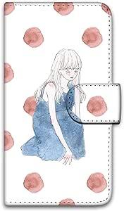 卡丽 壳 印刷手册 座位女孩 智能手机壳 手册式 对应全部机型 座る女の子B 10_ Disney Mobile on docomo DM-02H