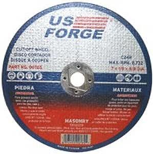 US Forge Cut Off Wheel Masonry Arbor 7-Inch by 1/8-Inch 5/8-Inch 765