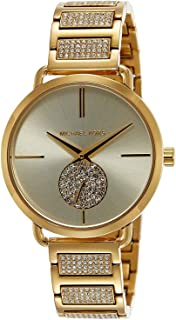 Michael Kors Women's Portia MK3852 Gold Stainless-Steel Swiss Parts Quartz Fashion Watch