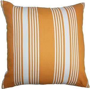 The Pillow Collection Perri 条纹羽绒填充抱枕 红色 白色 * 20 x 20 P18-TPC-1017