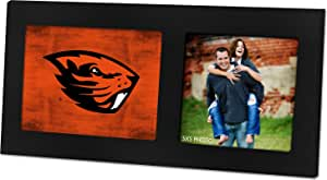 KH 体育迷40.6x 20.3cm 俄勒冈州 beavers 彩色 LOGO 黑色单拼贴相框