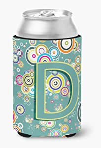 Caroline's Treasures Letter I Sea Doodles Initial Alphabet Michelob Ultra Koozie for Slim Cans