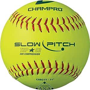 CHAMPRO ASA 11 英寸(约 27.9 厘米)慢速投球 - 皮革套 .52 COR