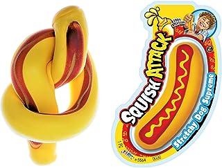 JA-RU 弹性热狗湿巾玩具(单位)缓解*压力玩具 | 自闭*儿童感官玩具和成人的解压玩具。 5564-p 1包 Hot Dog