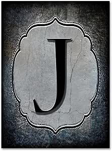 Trademark Fine Art 字母 J 由 LightBoxJournal 出品 18x24 ALI10349-C1824GG
