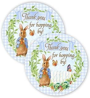 POP Party Peter Rabbit 派对礼品贴纸 - 40 个礼品袋贴纸 - Peter Rabbit Party Thank You 标签 - Peter Rabbit 派对用品 - Peter Rabbit 派对用品 - Peter Rabbit 派对装饰 - 贴纸 B