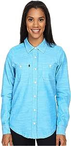 KAVU 女式生锈长袖衬衫 X大码 蓝色 2038