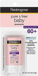 Neutrogena 露得清 Pure & Free 婴儿防晒棒,* SPF 60,0.47盎司(约13.3克)