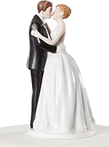 """Wedding Collectibles """"Romance"""" Kissing Couple Wedding Cake Topper Figurine"""
