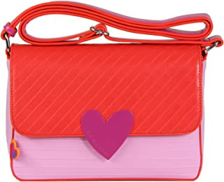 Agatha Ruiz de la Prada(阿加塔·鲁斯·德·普拉达)彩色花边单肩包 粉色-大地·路易斯·德·普拉达 (Bloques Bag Pink-Agatha Ruiz de la Prada)