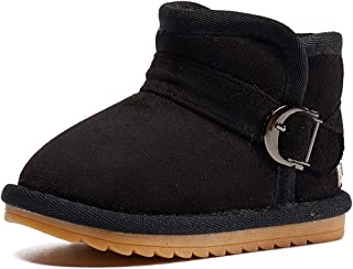 BMCiTYBM 男宝宝女童雪地靴保暖冬季防滑婴儿学步鞋,适合6-24个月大的宝宝