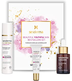 Sesderma YOUTHFULNESS 促销装弹性凝胶霜,1.7 液体 Oz + 眼部修护凝胶 0.5 液 Oz + HIDRADERM HYAL 面部精华液 1.0 液体盎司 盎司,3.2 液盎司 盎司