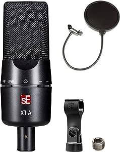sE Electronics X1 A 大号隔膜电容麦克风套装,带 CAD 音频 Pop 过滤器