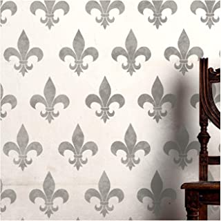 FLEUR DE LYS 墙壁家具地板模板用于绘画 Wand Groß