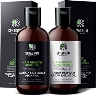 *洗发水和护发素 - * 天然无硫酸盐处理,有效去除细发和受损发质。 不含SLS/防腐剂。 强力*DHT屏蔽器。 适合*生长的*佳洗发水。 8.45 + 8.45 Fl Oz
