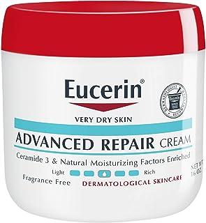 Eucerin 优色林 高级修护霜—无味全身乳液,适合非常干燥的皮肤——16盎司/罐(约453.59克)