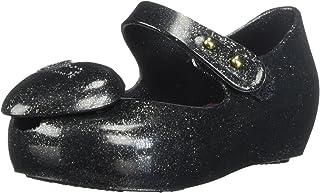 Mini Melissa Mini Ultragirl Heart ME 儿童芭蕾平底鞋 黑色 9 M US Toddler