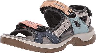 Ecco 愛步女式夏季透氣皮涼鞋Yucatan 潮鞋厚底沙灘鞋越野鞋