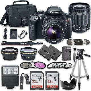 佳能 EOS Rebel T6 DSLR 相機套裝,帶佳能 EF-S 18-55mm f/3.5-5.6 IS II 鏡頭 + 2 個 SanDisk 32GB 內存卡 + 配件套件