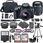 佳能 EOS Rebel T6 DSLR 相机套装,带佳能 EF-S 18-55mm f/3.5-5.6 IS II 镜头 + 2 个 SanDisk 32GB 内存卡 + 配件套件