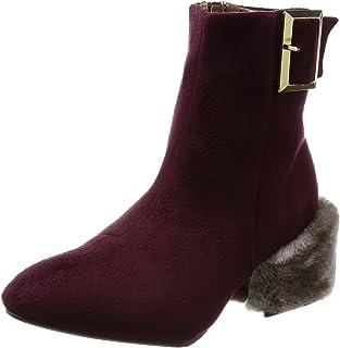 [Nowel Vogue 轻松] 靴子 毛跟/异材质 粗跟靴 200-1806