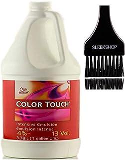 Wella 威娜 COLOR TOUCH *乳霜显影剂(带圆滑色调刷)过氧化霜,适用于 ColorTouch 发色染料 13 Volume / 4% - 3.78 LITER / 1 GALLON