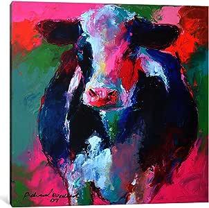 iCanvasART 9629-1PC6-37x37 Cow II Canvas Print by Richard Wallich, 1.5 x 37 x 37-Inch
