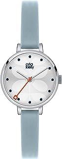 Orla Kiely 女式模拟石英手表皮革表带 - OK2015
