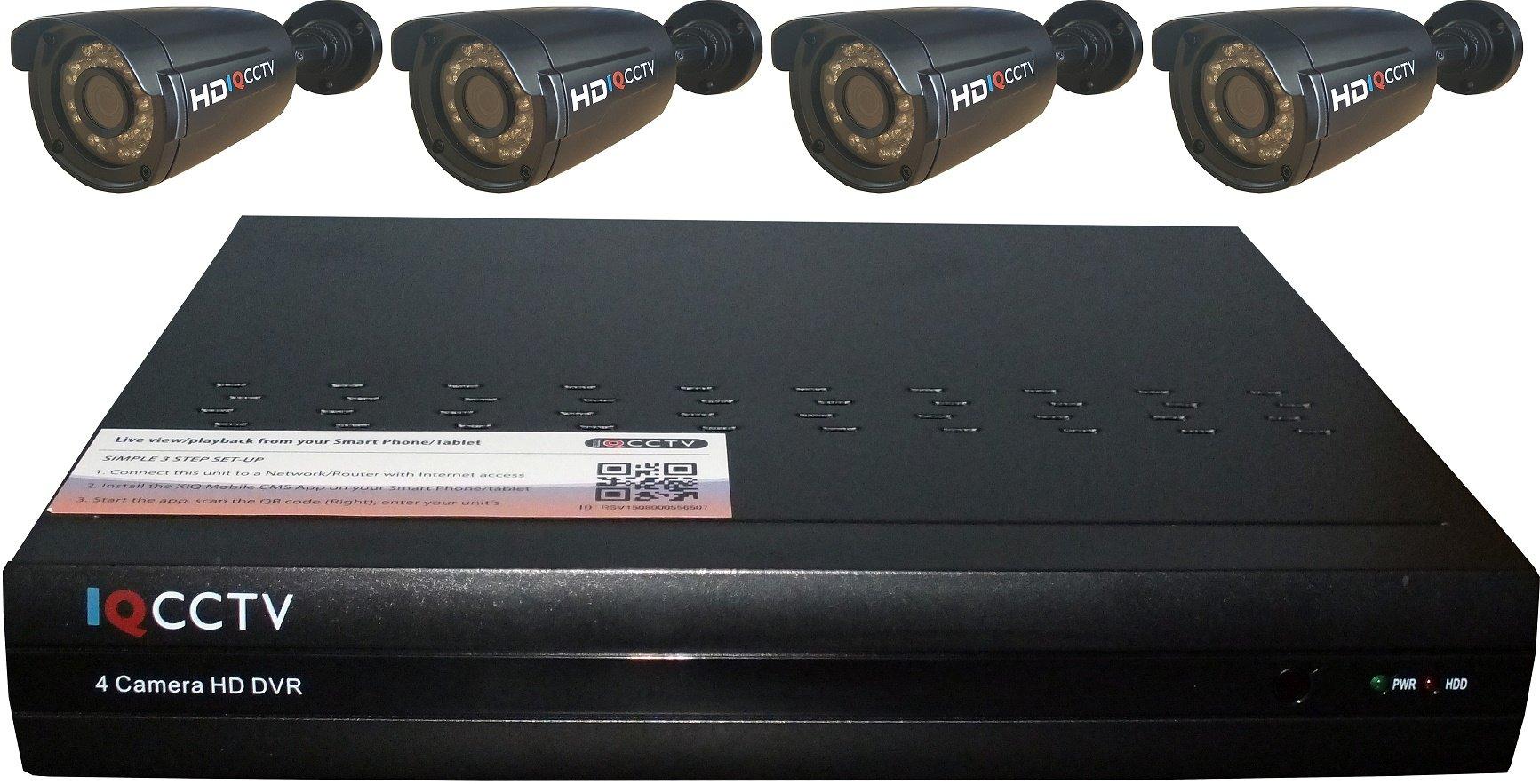 Y3K 720P外部広い弾丸フル* 4カメラキット - ブラック