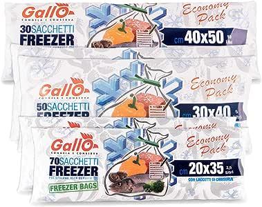 Gallo 冰箱袋卷装,适合食物,中性,各种尺寸