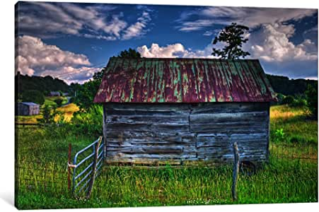 iCanvasART 7098-1PC6-26x18 Small Barn Canvas Print by Bob Rouse, 1.5 x 26 x 18-Inch