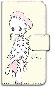 caho 保护套印花翻盖毛绒玩具和小女孩手机保护壳翻盖式适用于所有机型  ぬいぐるみと少女D 5_ ARROWS X F-02E