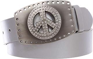 3.81 厘米扣式水钻和平标志镂空皮带扣