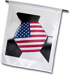 carsten reisinger illustrations–插图–美国足球–旗帜 12 x 18 inch Garden Flag