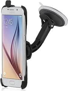 Wicked Chili 汽车挡风玻璃支架适用于 Samsung Galaxy S6 (完美贴合,球形)黑色