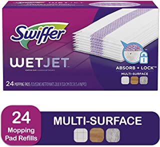 Swiffer WetJet Spray Mop Floor Cleaner Pad Refills, 24-Count (Pack of 2) (Packaging May Vary)