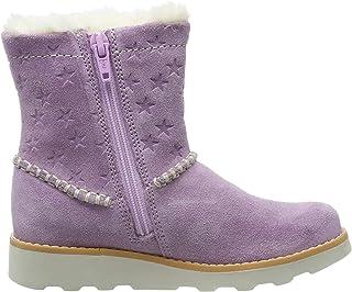 Clarks 女孩 Crown Piper K 靴筒松松的靴子