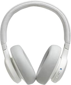 JBL Live 650 BT NC, Around-Ear Wireless Headphone with Noise Cancellation - White
