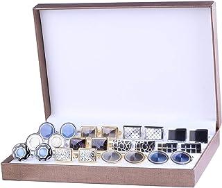 BodyJ4You 袖扣 12 双色调经典时尚男士袖口扣优雅礼品盒