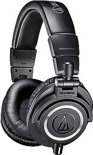 Audio Technica 铁三角 ATH-M50x专业录音室监听耳机,黑色