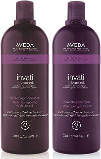 Aveda Invati 去角质洗发露 33.8 盎司加紧护发素,33.8 盎司,DUO