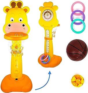 Toysery 儿童青少年篮球套装 – 室内外活动的理想选择 – 包括背部高度杆 – 宝宝无穷乐趣 – 非常适合儿童的生长