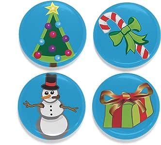 Buttonsmith 假日冰箱磁铁套装 - 美国制造 Christmas Icons PRESet-Mag-ChristmasIcons