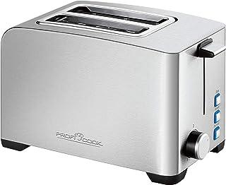ProfiCook PC-TA 1082 烤面包机,不锈钢外壳,不锈钢小面包附件,可连续调节烘烤程度,中心功能,烘烤盘。