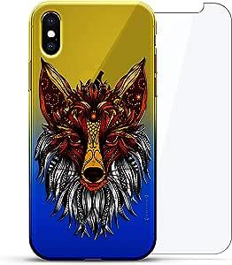 Luxendary 设计师保护玻璃套装手机壳 iPhoneLUX-IXCRM2B360-FOX3 ANIMALS: Artistic Fox 蓝色(Dusk)