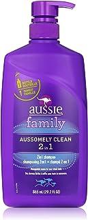 aussie Aussomely Clean 2-in-1 Shampoo + Conditioner with Pump, 29.2 oz