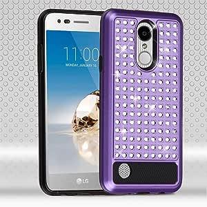 LG Aristo Asmyna 手机套 - 紫色/黑色