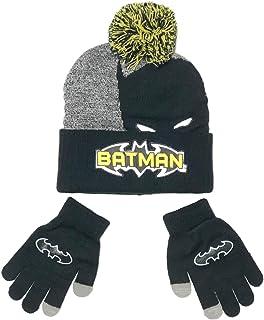 蝙蝠侠男孩无檐小便帽和手套冬季套装